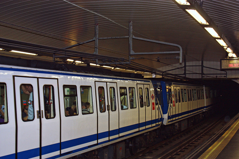 The Madrid metro.