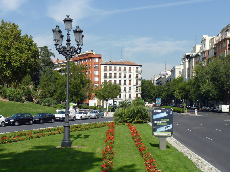 Madrid's beautifully manicured streets.