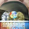 Gaudi's Casa Battlo entrance.