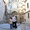 Us in front of the Cathedral of Toledo.