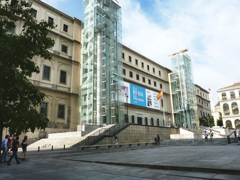 The Reina Sofia Art Museum - right across the street from our hotel.