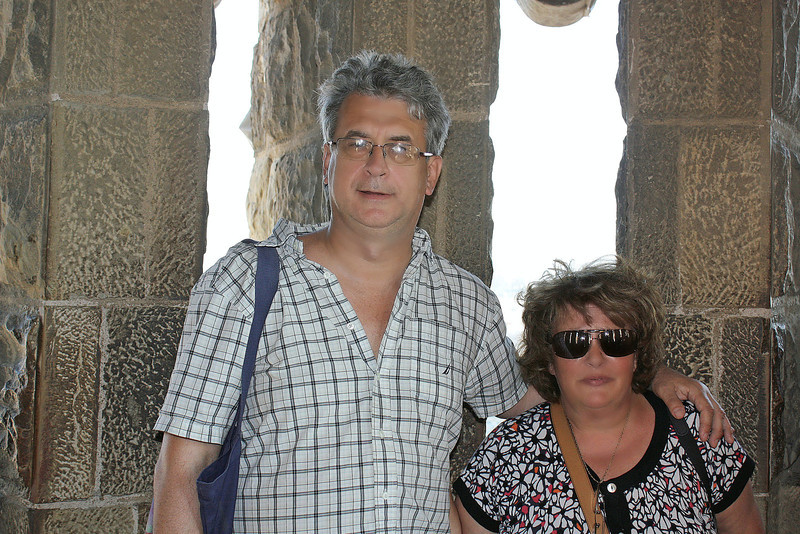Us atop Gaudi's La Sagrada Família.