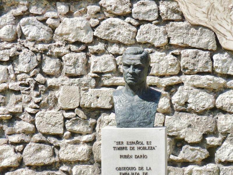 Bust of poet, Ruben Dario.