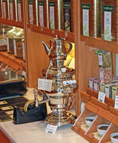 Samovar in a tea shop.