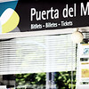 Puerta del Mar tram stop on the shore. The tram goes up to the ever-popular Benidorm, but we were so glad we stayed in Alicante.