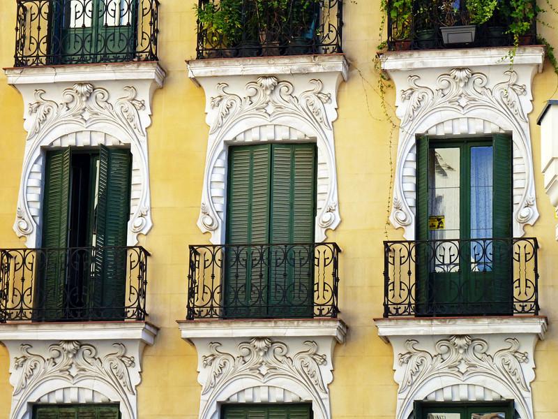 Beautiful balconies & ornamentation.