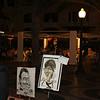 Cafés & caricatures on the promenade.