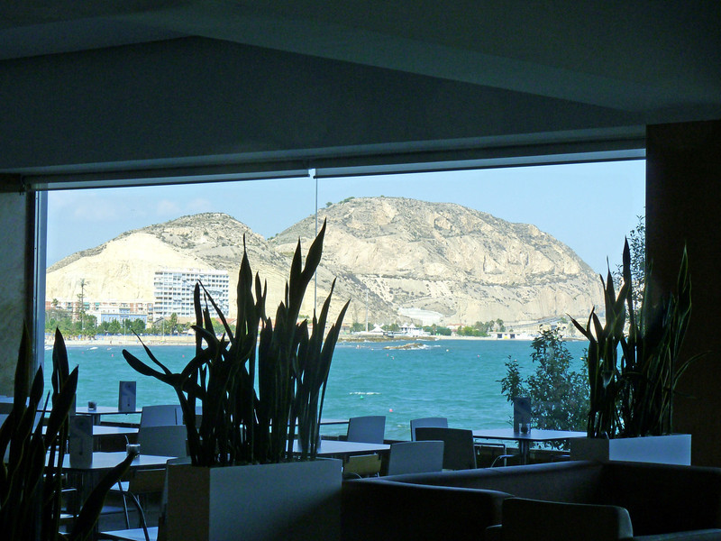 View of the Mediterranean from the breakfast room at at the Spa Porta Maris.