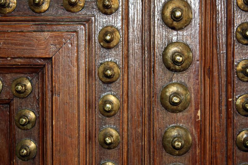 Old doors in Plaza Mayor.