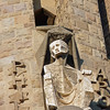 Anguished face on the Passion Facade of Sagrada Familia.