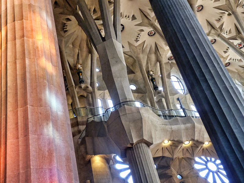 Sagrada Familia is also a UNESCO World Heritage site. There are those who love it & those who hate it, but it's difficult not to be overwhelmed by it.
