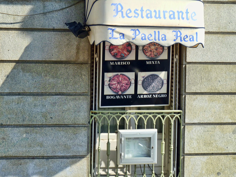 A paella restaurant. Yes, paella's everywhere though it originated in Valencia, not Madrid.