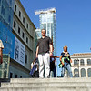 Rustem on the steps of the Reina Sofia.