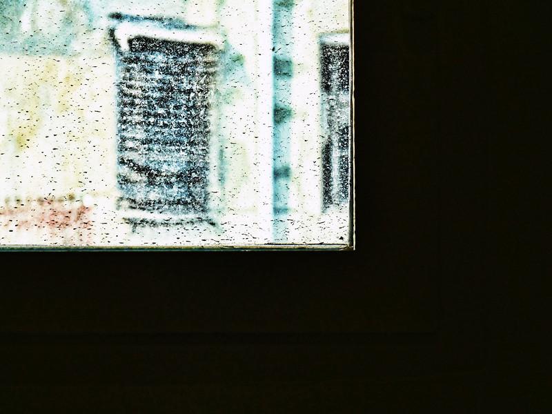 Looking out a window at the Museo de Bellas Artes San Pio V.