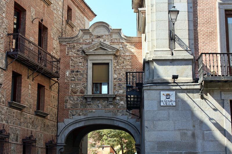 Plaza de la Villa built in 1644. Site of the former town hall.