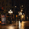 La Rambla at night.