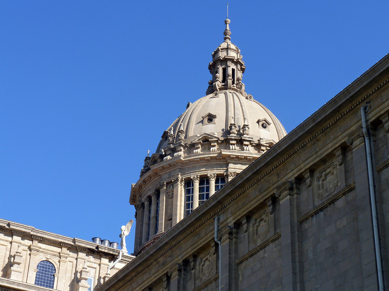The dome of Barcelona's National Museum of Art of Catalunya