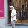 Old man walking in Toledo's former Jewish Quarter.
