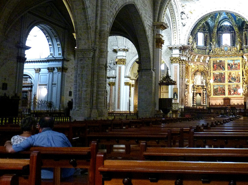 Inside the Valencia Cathedral.
