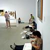 Art students at the Reina Sofia Art Museum.
