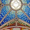 Unique & beautiful ceiling colors & design in Madrid's Cathedral Santa María la Real de La Almudena.