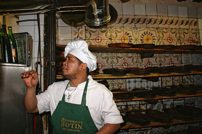 Restaurant Botin chef. You have to go through the kitchen to get to the dining room where we ate.