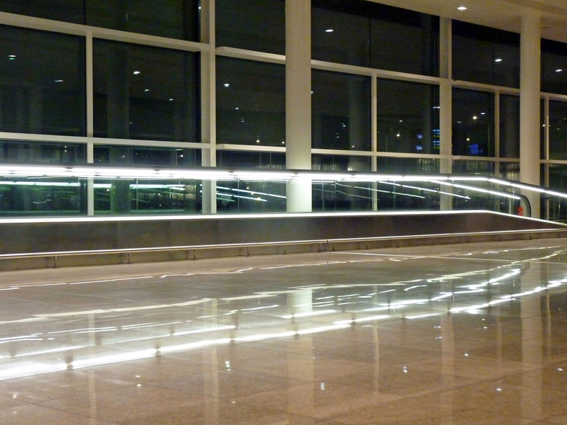 The Barcelona Airport.
