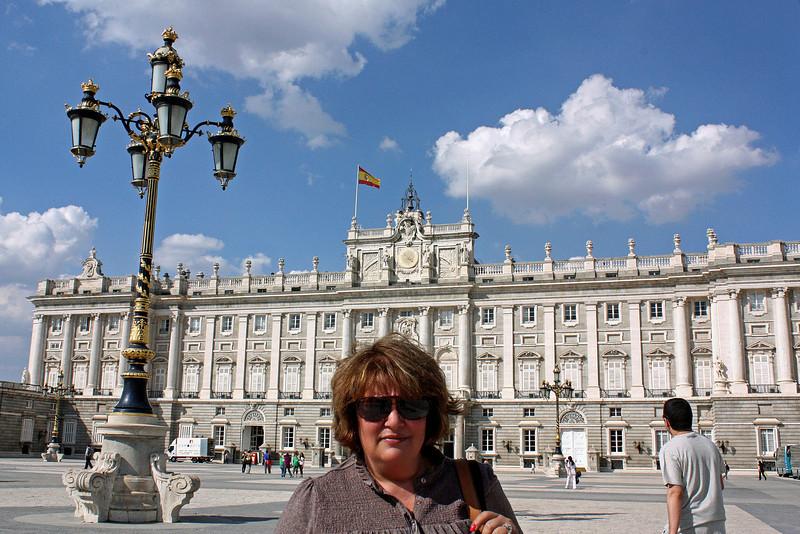 Susan at Madrid's Royal Palace.