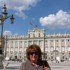 Susan at Madrid's Royal Palace.