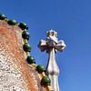 Three dimensional cross atop Casa Battlo.