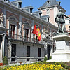 The old town hall in Plaza de la Villa with a statue of Alvaro de Bazan, the Spanish Admiral who planned the Armada.