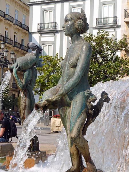 Poseidon fountain detail.