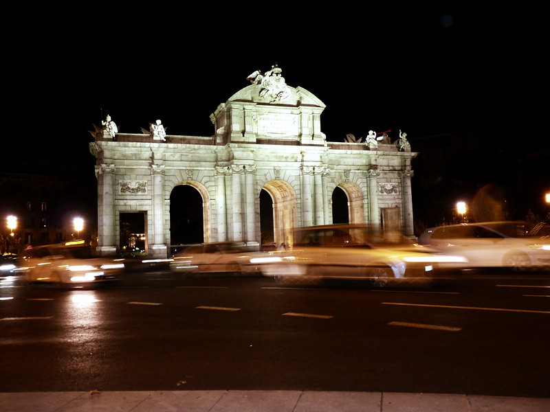 The Alcala Gate (Puerta de Alcalá) in Plaza de la Independencia. Completed in 1778.
