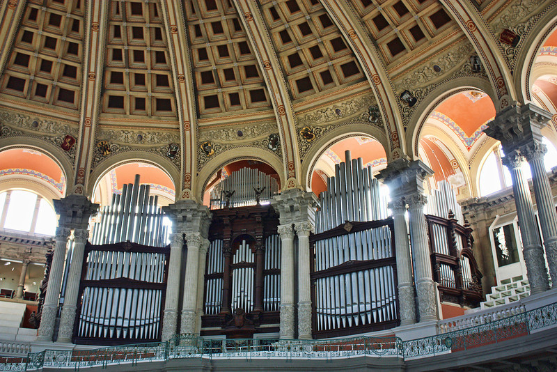 Organ pipes in the MNAC.