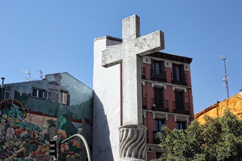 Cross near the old Arab wall.