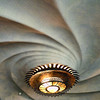 Swirled ceiling & lighting in Casa Battlo.