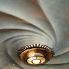 Swirled ceiling & lighting in Casa Battlo.