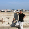 Rustem atop the Valencia Cathedral.