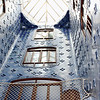 Casa Battlo interior courtyard. The Battlo family resided in the house until the mid 1950s.