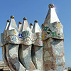 Casa Battlo rooftop chimneys.
