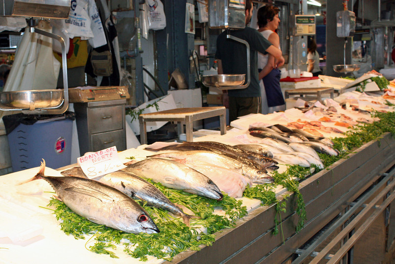 Fish for sale. There are almost 1000 stalls in this market.