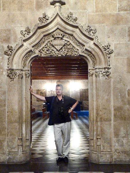Rustem in Valencia's Silk Exchange.