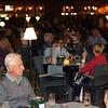 Crowds enjoying the evening Plaza Santa Ana.