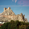 Fortress atop a cliff viewed from the train as we head to Alicante.