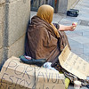 Beggar in front of the Church of San Ginés. Sadly, there are beggars everywhere in Spain. Some sit patiently on the street; others can be quite intrusive.