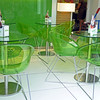 Chairs in a Valencia yogurt shop.