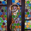 Stained glass door & handle in Casa Amatller.