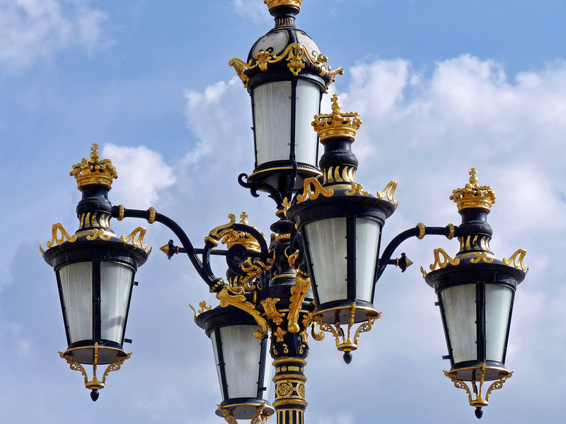 Royal palace lighting.