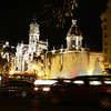 Valencia's City Hall lit up at night.