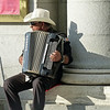 Accordion player in Plaza de Oriente.